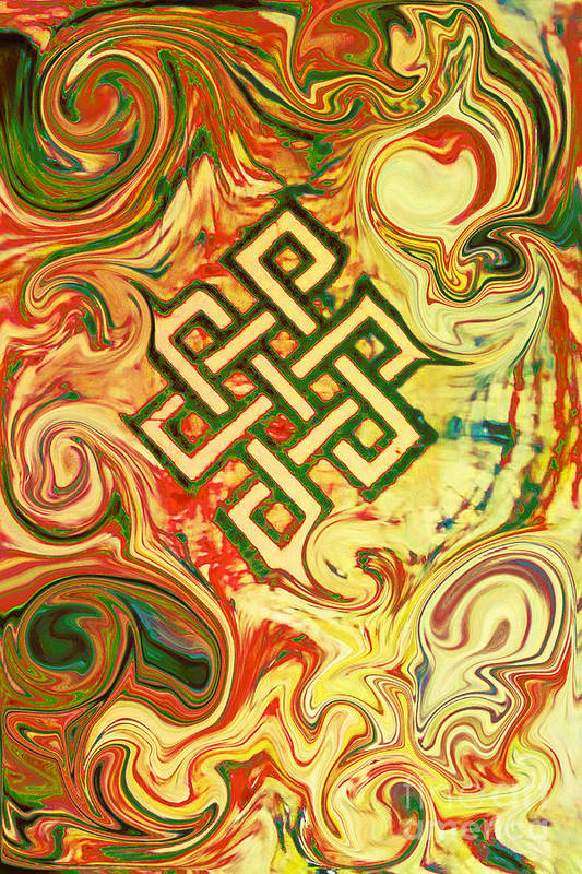 Endless Knot Poster featuring the painting Endless Knot Two by Kevin J Cooper Artwork