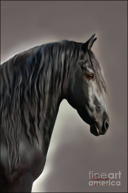 Friesian Poster featuring the painting Equus by Corey Ford