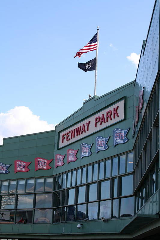 Fenway Park Poster featuring the photograph Fenway Park Centennial by Loud Waterfall Photography Chelsea Sullens