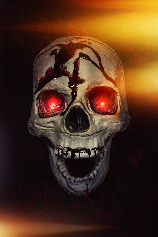 Skull Poster featuring the photograph Flame Eyes by Joana Kruse