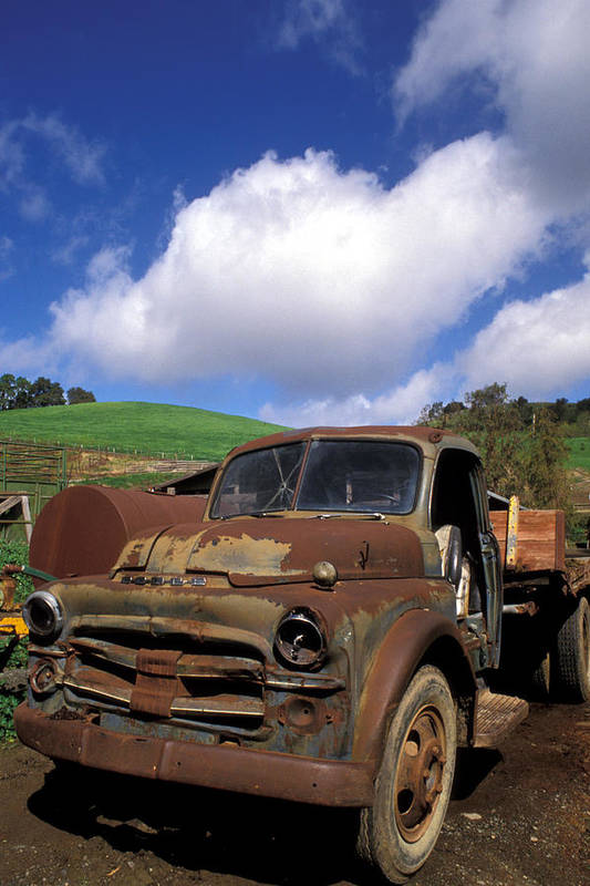 Old Trucks Poster featuring the photograph Garrod's Old Truck by Kathy Yates