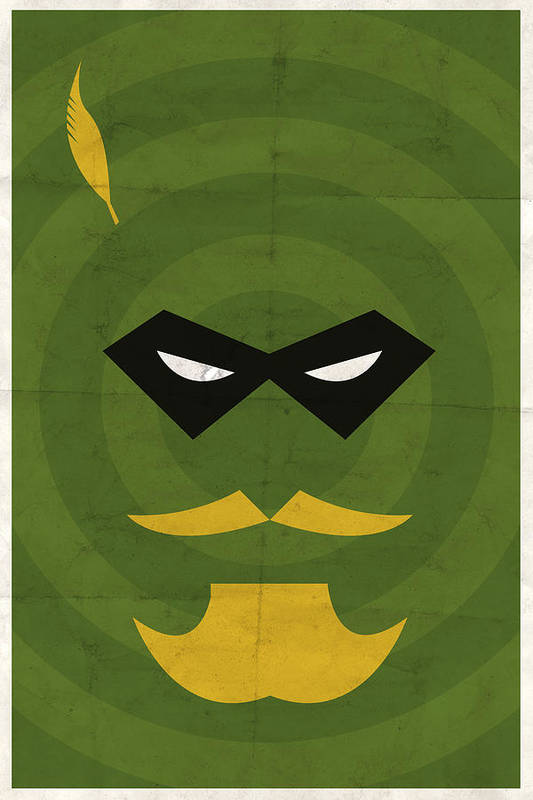 Green Arrow Poster featuring the digital art Green Arrow by Michael Myers