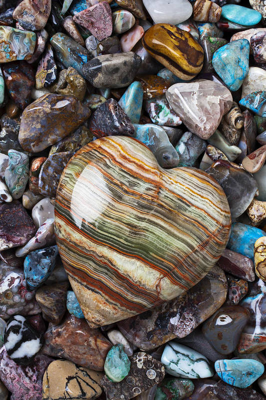 Stone Poster featuring the photograph Heart Stone by Garry Gay