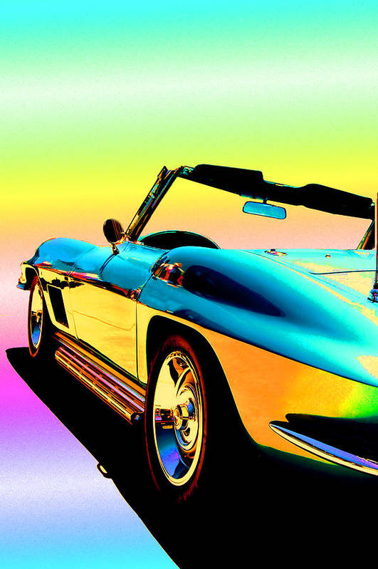 Car Poster featuring the photograph Kool Corvette by Lynn Andrews