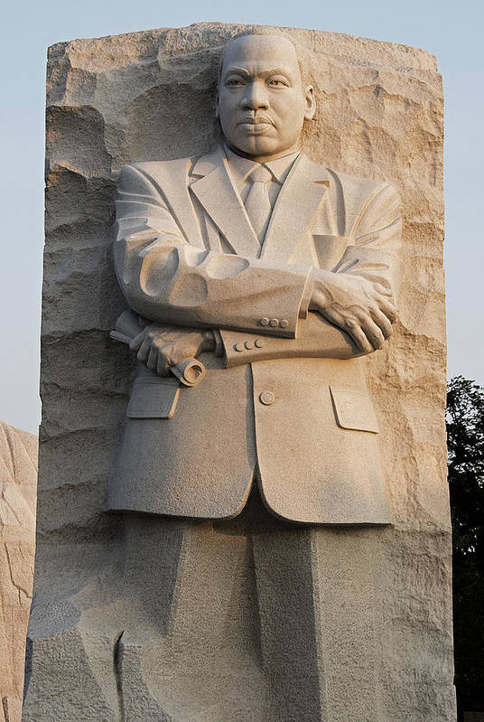 Martin Poster featuring the photograph Mlk Memorial In Washington Dc by Brendan Reals