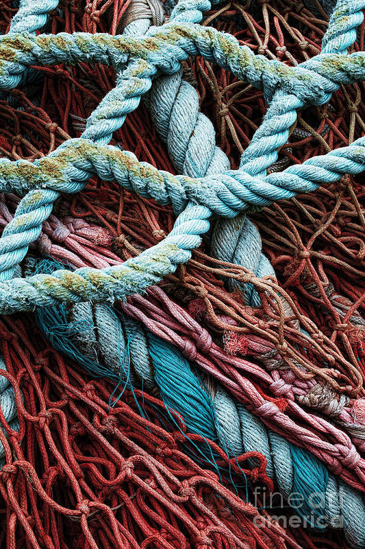 Fishing Nets Poster featuring the photograph Nets And Knots Number Six by Elena Nosyreva
