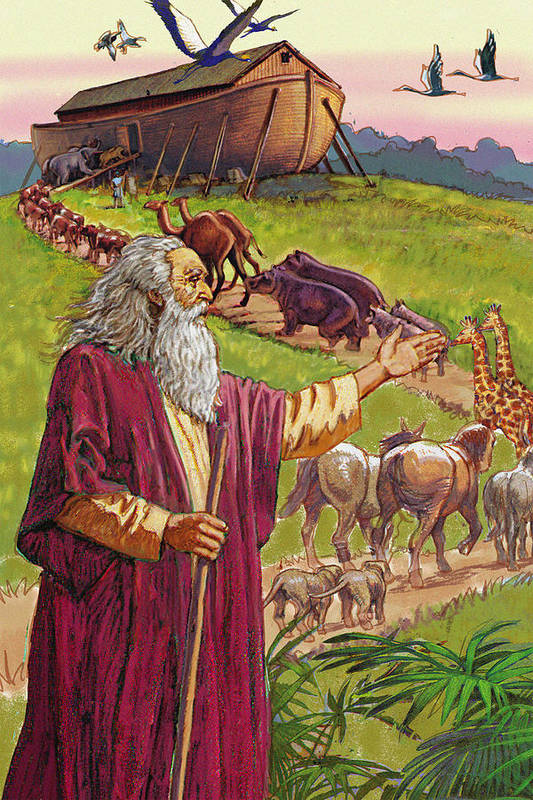 Religious Poster featuring the digital art Noah's Ark by Valer Ian