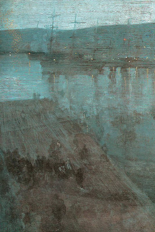 James Abbott Mcneill Whistler Poster featuring the painting Nocturne In Blue And Gold Valparaiso by James Abbott McNeill Whistler