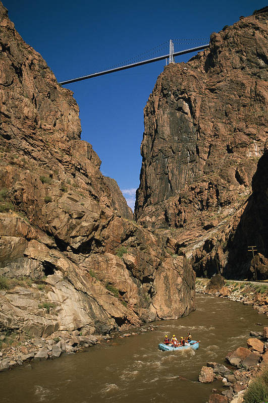 North America Poster featuring the photograph Rafting On The Arkansas River by Richard Nowitz