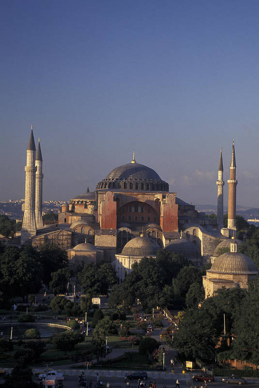 Istanbul Poster featuring the photograph Saint Sophia Hagia Sophia by Richard Nowitz