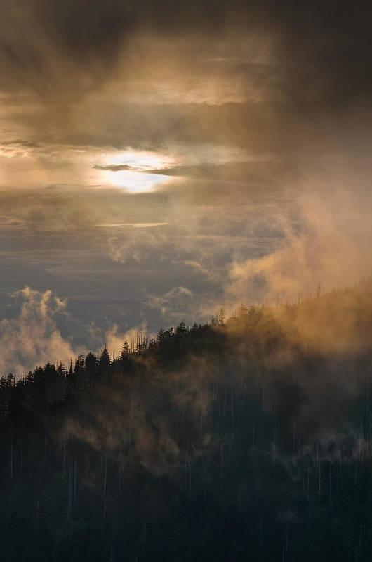 Carolina Poster featuring the photograph Smoky Mountain by Steve Gadomski