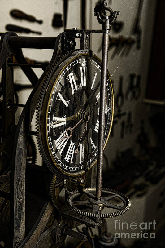 Paul Ward Poster featuring the photograph Steampunk - Timekeeper by Paul Ward