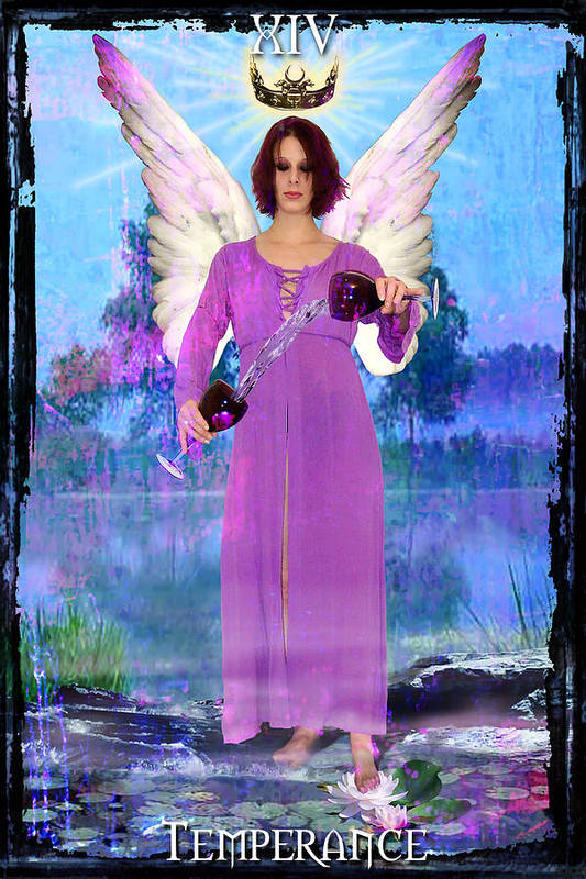Divine Poster featuring the digital art Temperance by Tammy Wetzel