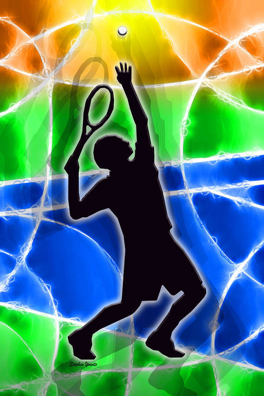 Tennis Poster featuring the digital art Tennis by Stephen Younts