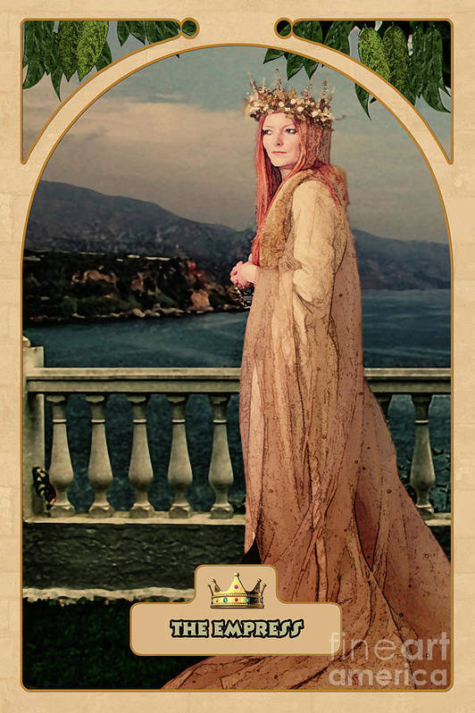 Magic Poster featuring the digital art The Empress by John Edwards