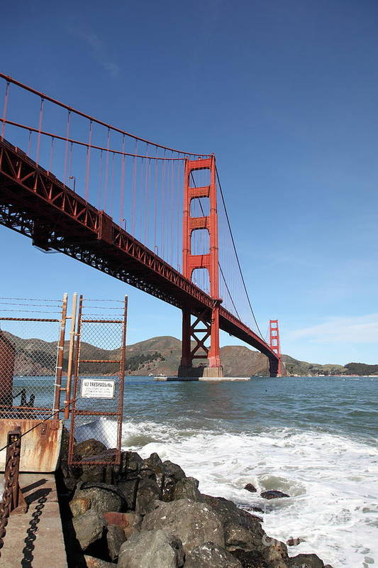 San Francisco Poster featuring the photograph The Golden Gate Bridge At Fort Point - 5d21473 by Wingsdomain Art and Photography