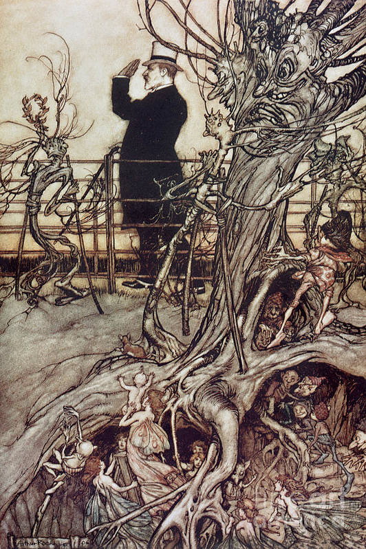 Arthur Rackham Poster featuring the drawing The Kensington Gardens Are In London Where The King Lives by Arthur Rackham