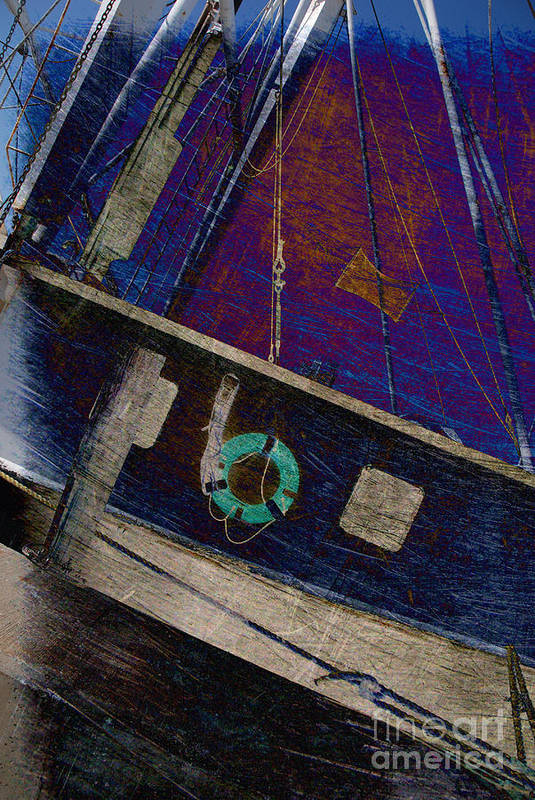 Boat Poster featuring the photograph The Other Way To Go by Susanne Van Hulst