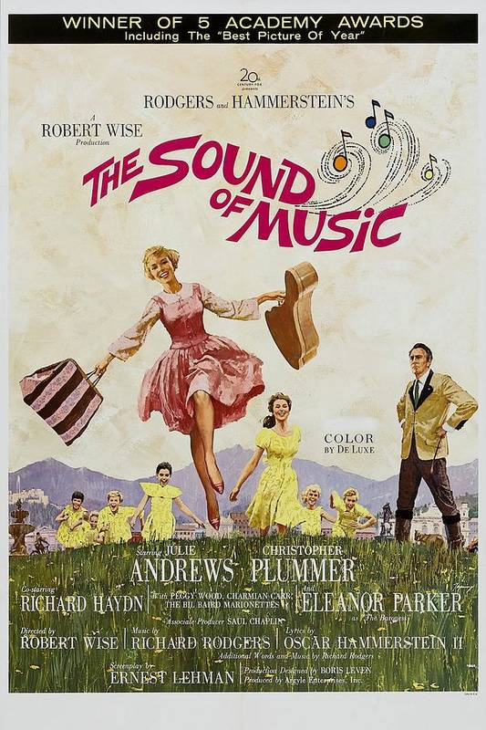 1960s Movies Poster featuring the photograph The Sound Of Music, Poster Art, Julie by Everett