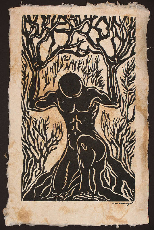 Figures Poster featuring the relief Yggdrasil by Maria Arango Diener