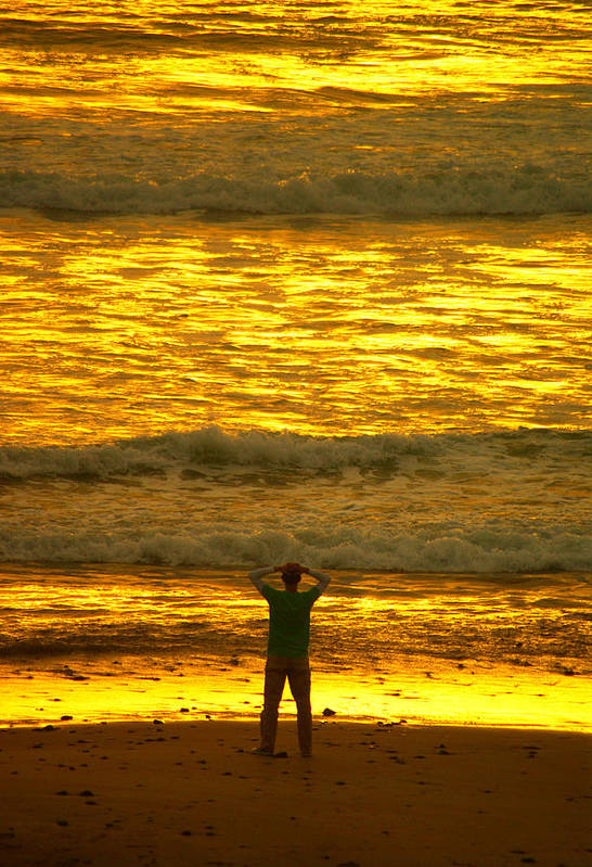 Pacific Ocean Poster featuring the photograph Solitude by Dale Stillman