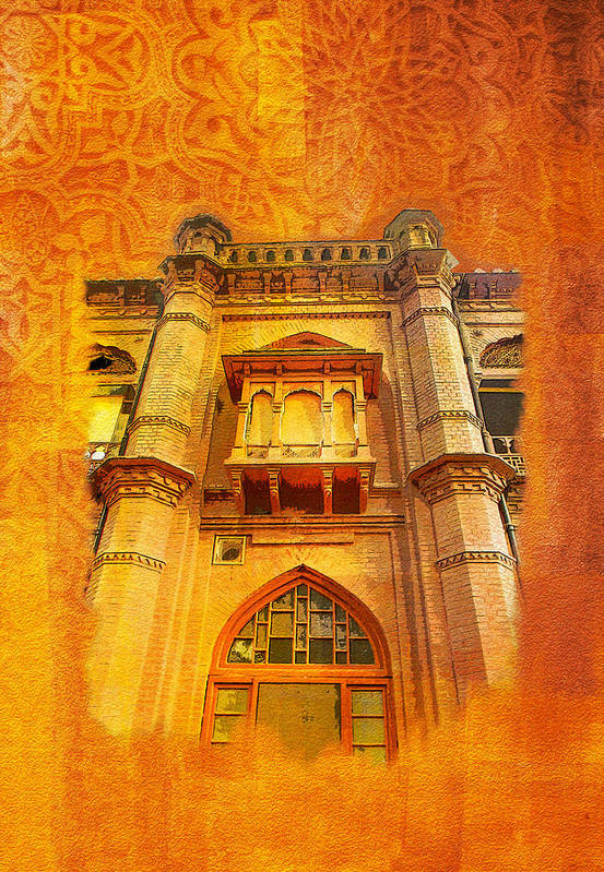 Pakistan Poster featuring the painting Aitchison College by Catf