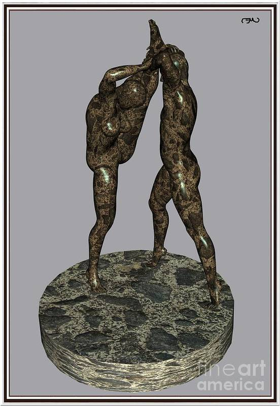Modern Painting Poster featuring the painting erotic acrobatics 3EA 1 by Pemaro