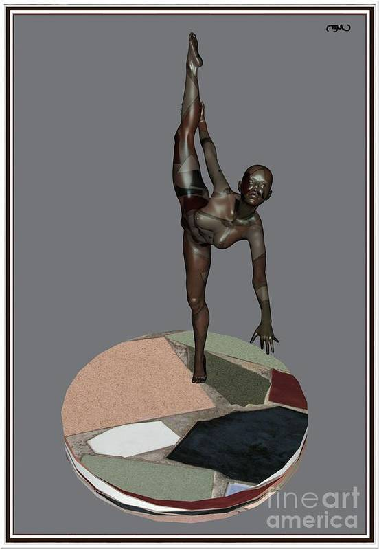 Modern Painting Poster featuring the painting erotic acrobatics 7EA 1 by Pemaro
