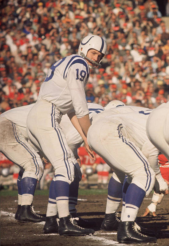 Marvin Newman Poster featuring the photograph Johnny Unitas by Retro Images Archive