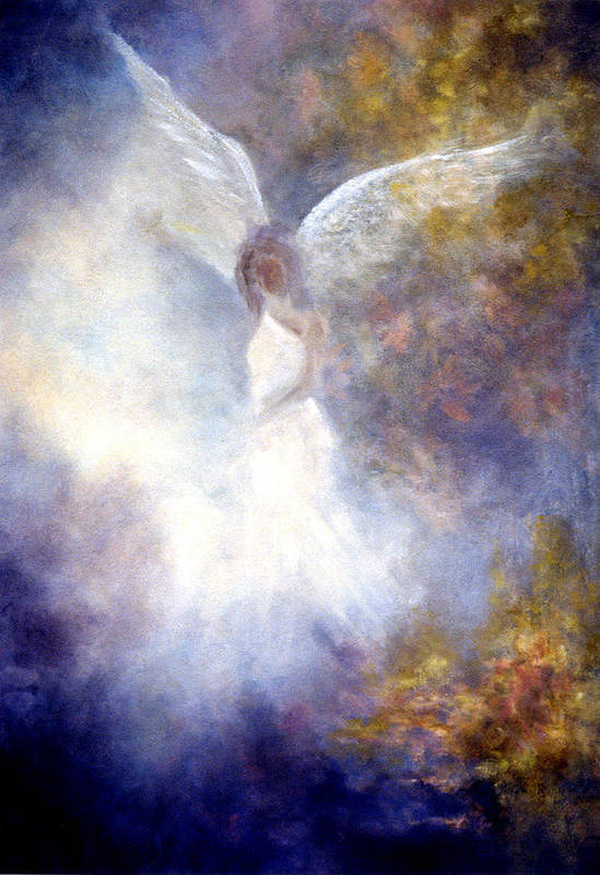 Angel Poster featuring the painting The Guardian by Marina Petro