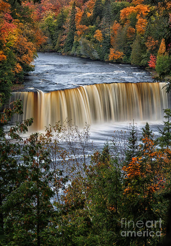 Michigan Photos Poster featuring the photograph Upper Tahquamenon Falls by Todd Bielby