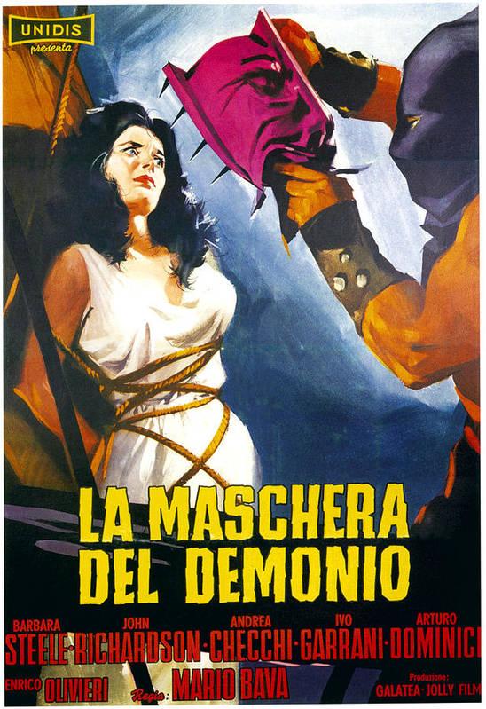 1960 Movies Poster featuring the photograph Black Sunday, Aka La Maschera Del by Everett