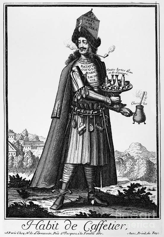 1690 Poster featuring the photograph Cafe Owner, C1690 by Granger