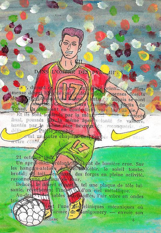 Cristiano Ronaldo Poster featuring the painting Cristiano Ronaldo by Jera Sky