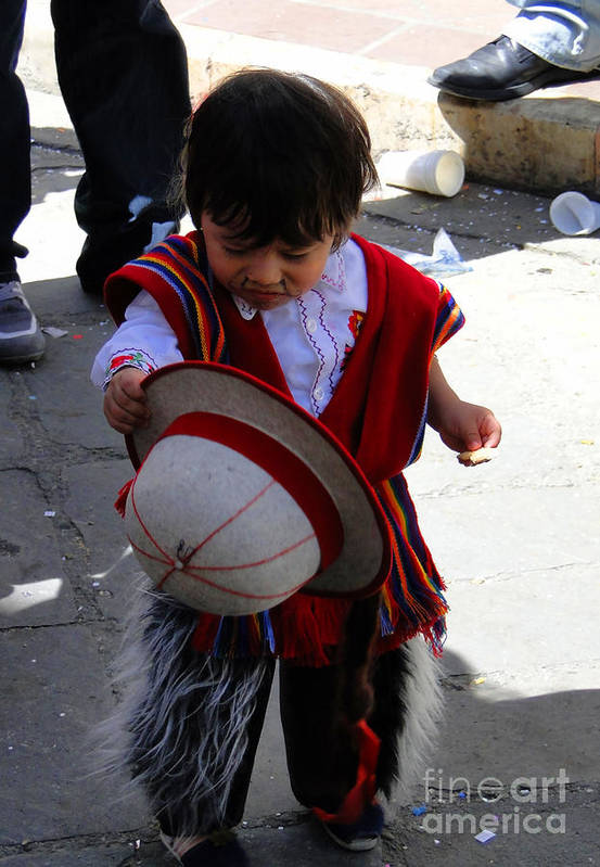 Al Bourassa Poster featuring the photograph Cuenca Kids 164 by Al Bourassa