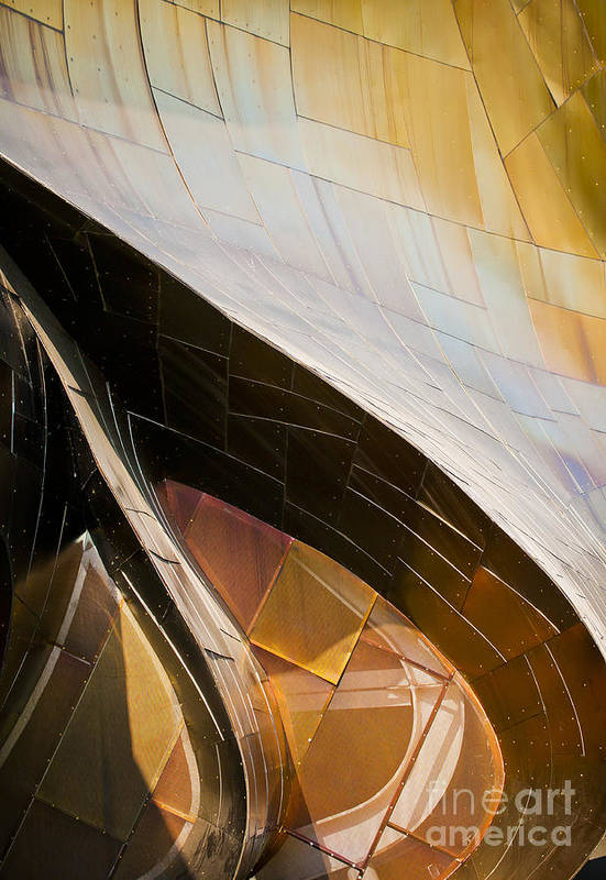 Experience Music Project Poster featuring the photograph Emp Curves by Chris Dutton