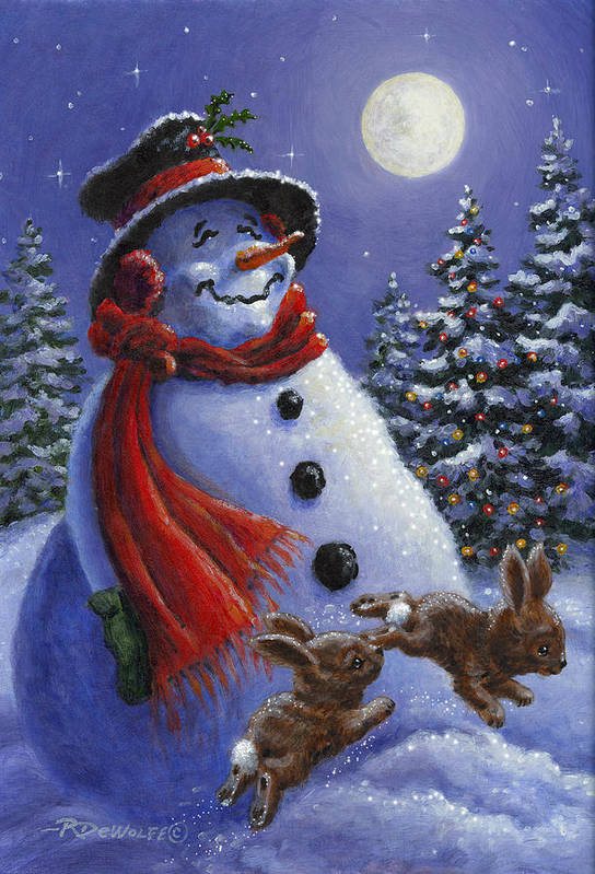 Winter Poster featuring the painting Holiday Magic by Richard De Wolfe