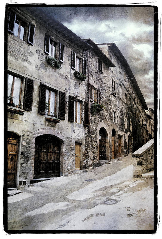 Art Poster featuring the pyrography North Italy by Mauro Celotti