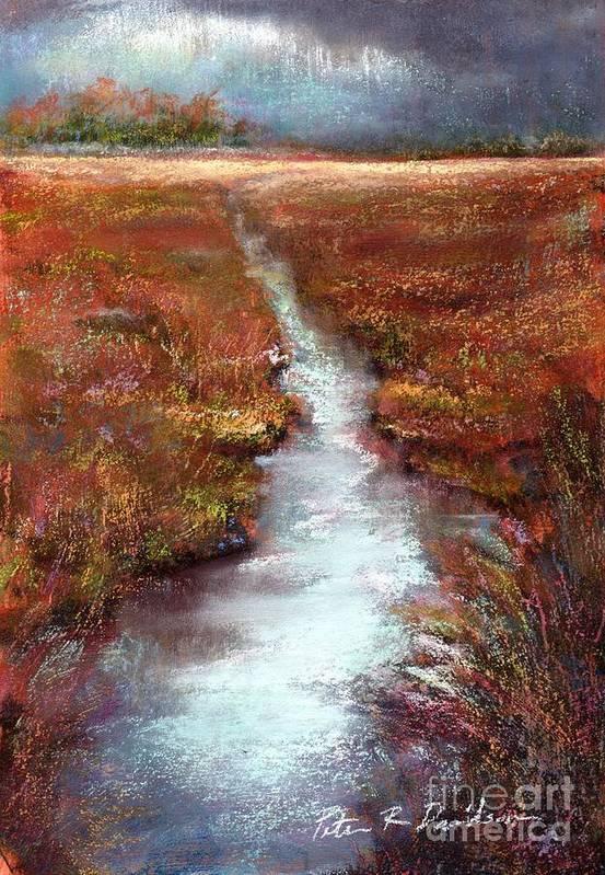 Pastel Poster featuring the pastel October Goshen Creek by Peter R Davidson
