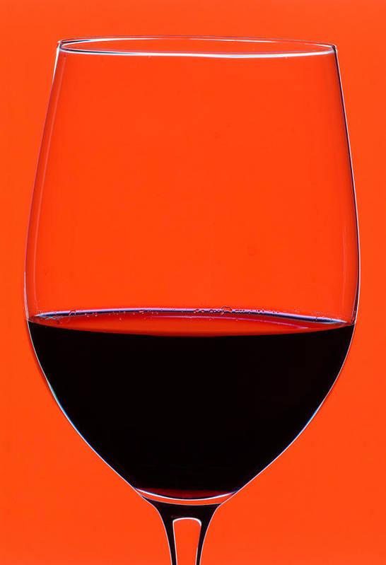 Wine Poster featuring the photograph Red Wine Glass by Frank Tschakert