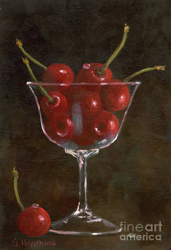 Oil Painting Poster featuring the painting Cherries Jubilee by Sheryl Heatherly Hawkins