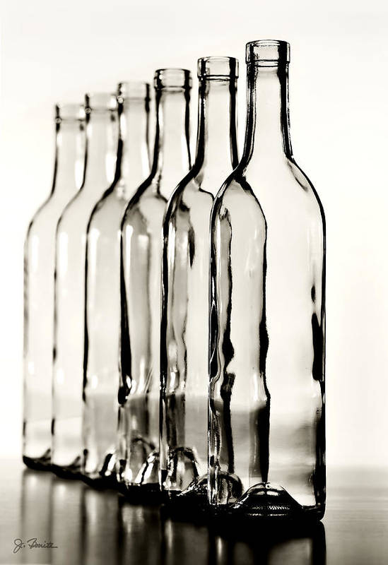 Bottle Poster featuring the photograph Follow The Leader No. 2 by Joe Bonita