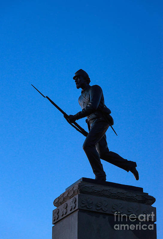 Adams County Poster featuring the photograph Minnesota Soldier Monument At Gettysburg by John Greim