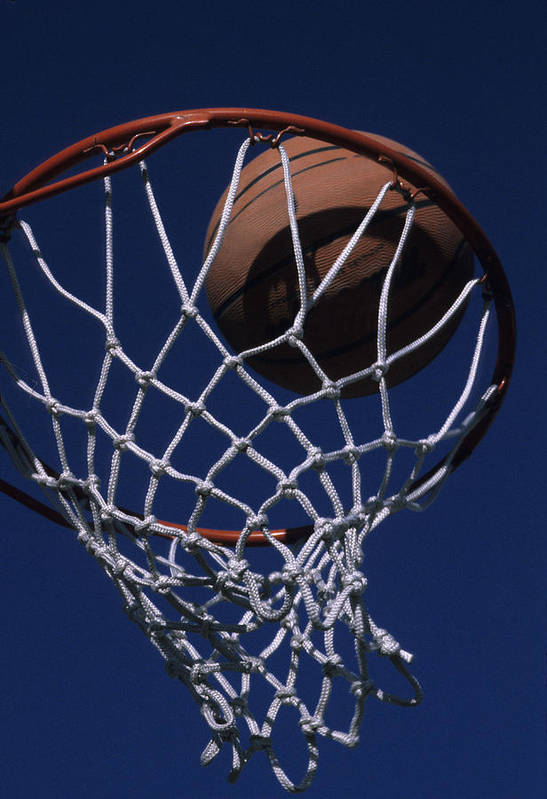 Phoenix Poster featuring the photograph Swish. A Basketball by Stacy Gold