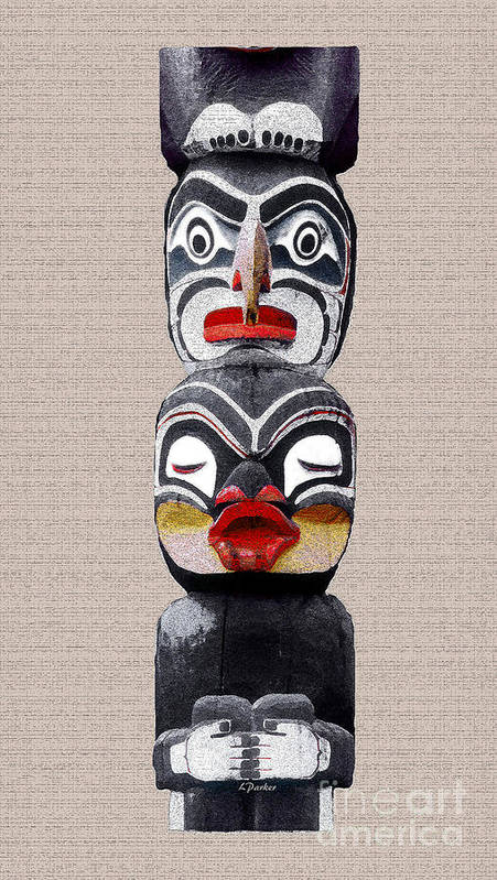 Eskimo Poster featuring the photograph Vancouver Totem - 1 by Linda Parker