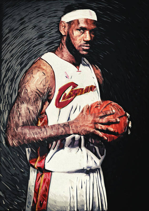 Lebron James Poster featuring the digital art Lebron James by Taylan Soyturk