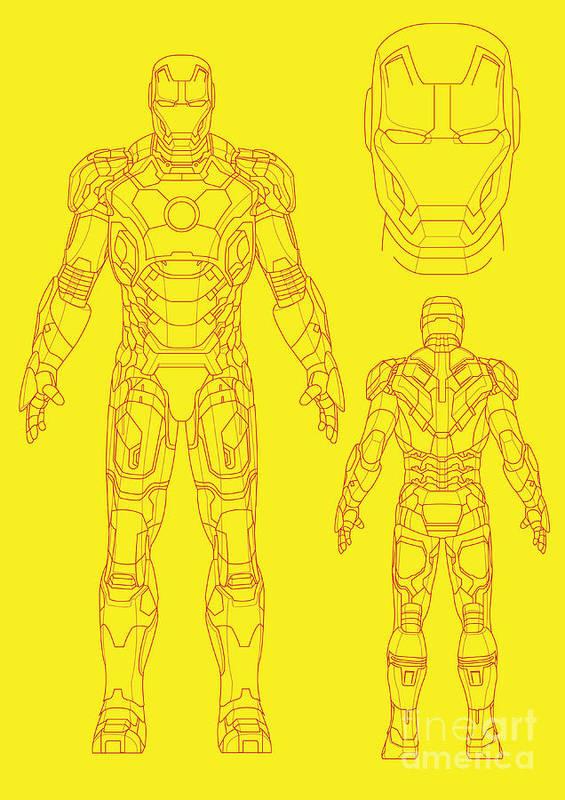 Iron Man Poster featuring the digital art Iron Man by Caio Caldas