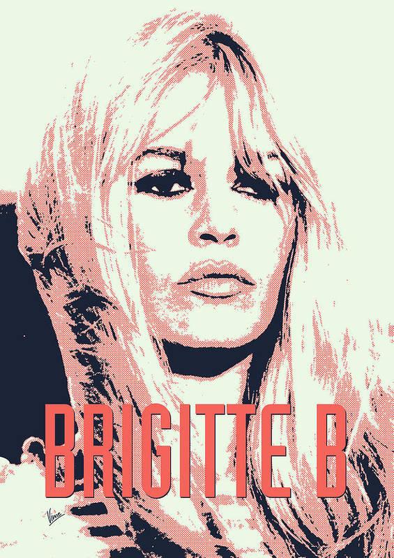 Brigitte Poster featuring the digital art Brigitte B by Chungkong Art