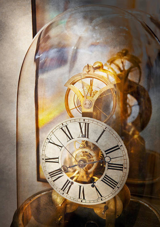 Clockmaker Poster featuring the photograph Clockmaker - A Look Back In Time by Mike Savad