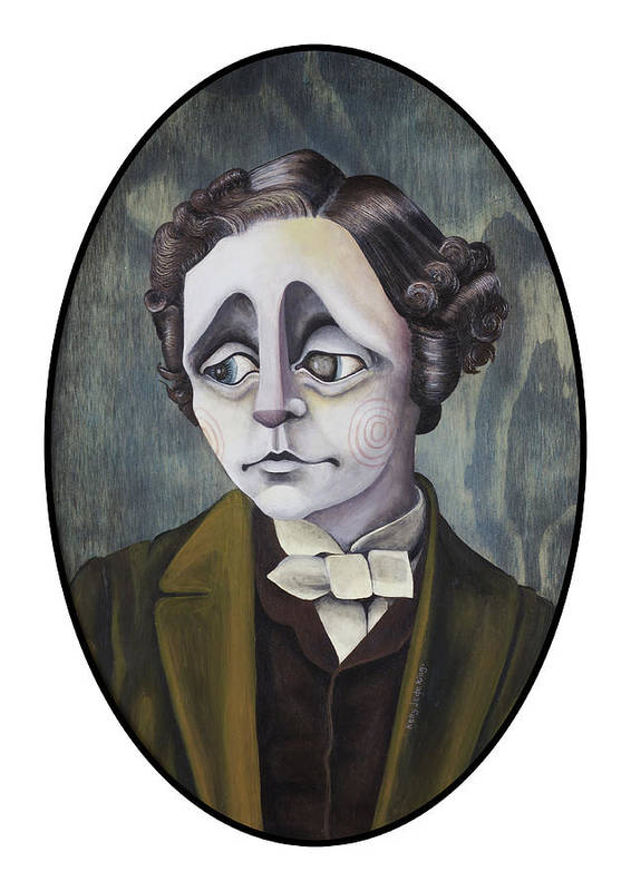 Lewiscarroll Poster featuring the painting Lewis by Kelly Jade King